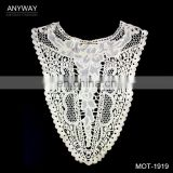 Lastest trendy ladies collar neck designs;fashion blouse collar design;decorative indian embroidery motifs for party dress