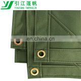 6' x 8' Olive Drab 21 oz Canvas Tarpaulin Breathable, Water/ Milder Resistant Canvas