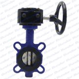 DN50-1200 150LB worm gear operated wafer butterfly valve supplier