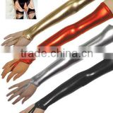 Instyles Sexy Shiny Wetlook Long Vinyl PVC Gloves Black Gold Silver Red Party Fancy Dress