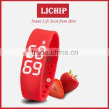 3D Pedometer OLED Sleeping monitor date&time colorie Temperature bluetooth LC- W2 Smart Bracelet
