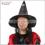 cheap black with hair attached halloween witch hat Image