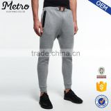 Brand drawstring men skinny leg jogger sweatpants with zipped side pockets                                                                         Quality Choice