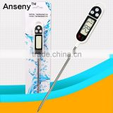 pen type thermometer with collapsible internal probe,instant read digital pen type thermometer,digital pen type thermometer