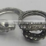 shinny stone snake shape ring animal ring personalized ring