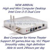 USB3.0 Mini Computer V2-I5 WIN8 WIN7 LINUX Compatible 3D Blue Ray Supporting