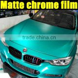 tiffany blue Matt Chrome Ice Car Body Wrap Heating Vinyl Film1.52x20M factory wholesale directly