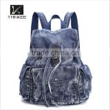 High quality fashion factory OEM durable retro jeans cloth backpack bag