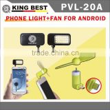 KING BEST Led flash light mobile phone selfie flash fill light for mobile cell phone + USB mini Fan for Android Smart phone Kit