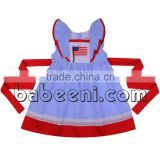 Adorable American flags smocked dress for girl