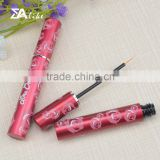 Cute aluminum plastic liquid cosmetic empty slim eyeliner pencil tubes