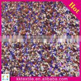 New arrival 100% polyester stain botton beautiful fabric for evening dress shiny sequin fabric
