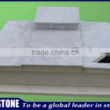 Simple large blank grave monument slab for wholesale