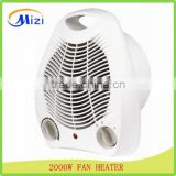 2000W electric fan heater with 100% Copper motor