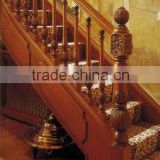 Red oak handrail solid wood hand carved classic balustrade