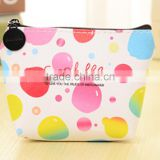 Hot sale color printing PU leather coin purse china factory