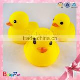 2014 Premium Quality Eco-friendly Floating Rubber Small Toy Yellow Bath Duck