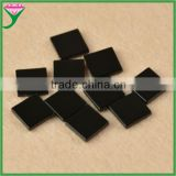 wholesale prices brazilian loose square double flat polished natural black agate slices for jewelry making