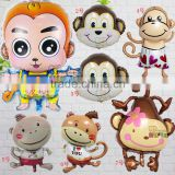 Monkey balloon foil helium balloons, animal balloon