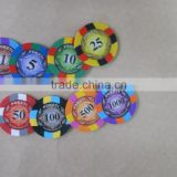 3 TONE clay Poker Chips with your denomination,clay poker chip with your denomination,casino chip with your design