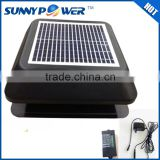 12inch Square With battery new solar attic fan and air guard exhaust fan