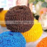 household products tools for kitchen Polyester fiber dish scourer stainless steel scrubber popular items from linyi