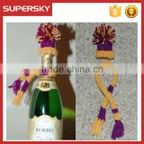 A-859 Holiday Party Knit Wine Bottle Scarf Hat Christmas Hat for Wine/Booze/ Bottles Knitted Novelty Wine Bottle Topper