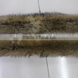 Genuine Colorful Raccoon Fur Trim Strips Raccon Fur Collar Coat Men