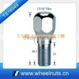 Chrome plated 21hex 23 knurl wheel bolt