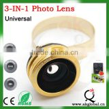 Brilliant Quality Universal Clip 3 in 1 Lens for Mobile Phone Fish Eye Clip Lens