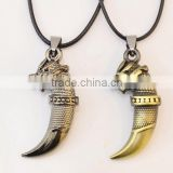 Popular PUNK charm wolf tooth pendants Necklace gift