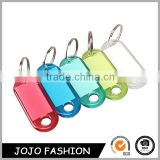High Quality New Home decor Luggage ID Label Key Tags Keychains Colorful Transparent Plastic