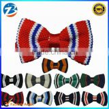 Hot Selling New British Fashion Acrylic Knitted Custom Bow Ties Men