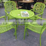 Most Popular Garden Furniture Skid Resistant Round Cast Aluminum Dining Set Leisure Patio Furniture
