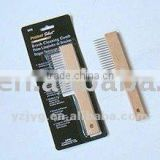 wooden paint cleaning brush with natural material
