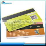 Factory direct printed iso 14443 S70 chip cards mini blank magnetic stripe smart card with qr code printing