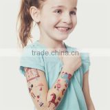 OEM cartoon cute temporary color tattoos for kids body art tattoos safe non-toxic color tattoo stickers factory