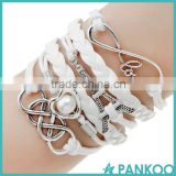 2016 Vintage Fashion Women Jewelry Leather Multilayer Bracelets, Wholesales Anchor Bracelet
