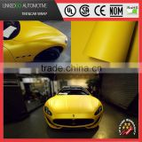 LKG Sunflower Yellow Metallic Matte bubble free car wrap for stretchable car body satin chrome vinyl sticker 1.52*20m