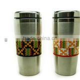 stainless steel coffee mug with 3D soft pvc