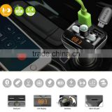 2016 New BT20 12V-24V Car LCD Display Play TF Card U Disk Music MP3 3.4A USB Car Charger FM Transmitter Bluetooth Handsfree