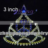 Peace sign colored rhinestone pageant tiara
