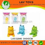 Promotion wind up mini plastic frogs toys for kids
