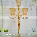 2016 new design antique brass candelabra for wedding centerpiece decoration candle holder