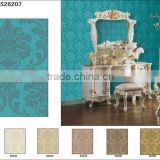 Glitter wallpaper wall paper /vinyl wallpaper/pvc wallcovering/modern classical wallpaper