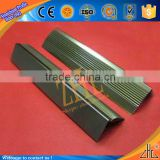 Hot export India gold brushed/polishing/anodized tile stair nosing trim corner profile CNC guangdong zhonglian aluminum co