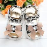 Baby newbornshoes leopard print leather baby shoes
