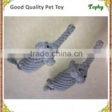 Dog Toys- Cotton Chew Toys(Grey Elephant), Teeth Cleanning Toy, Puppy Dental Teaser Rope Toys with Solid Knots, Wear-Resistant