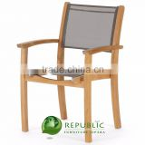 Solid Teak Wood Stacking Batyline Chair Furniture Indonesia