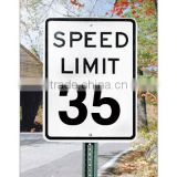 solar powered road speed limit signs